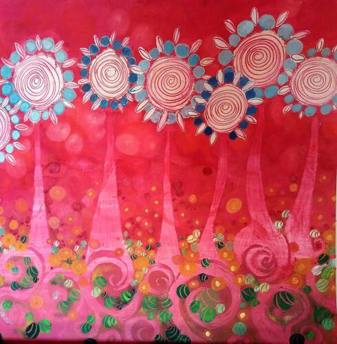 paysage-de-tournesol-rose